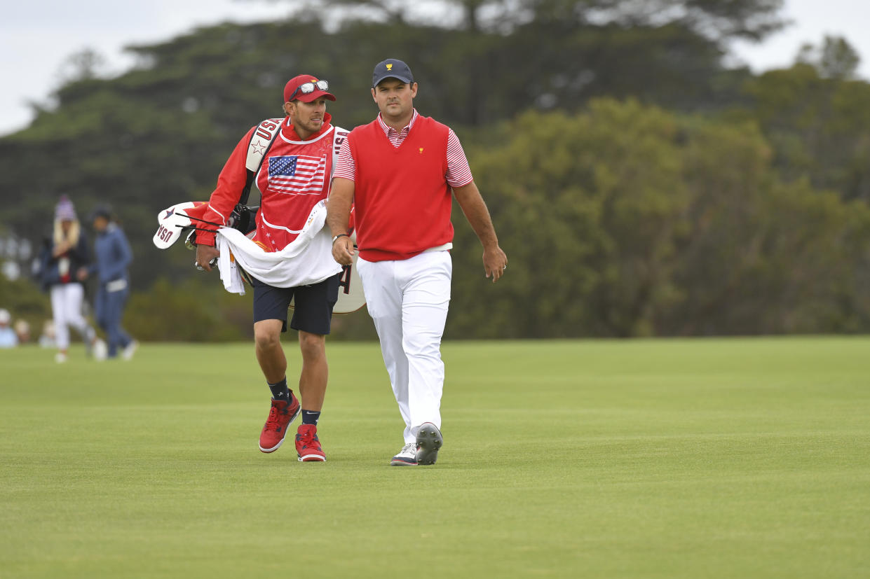 Patrick Reed and his caddie could be facing some serious consequences at the Presidents Cup. (Ben Jared/PGA TOUR/Getty Images)