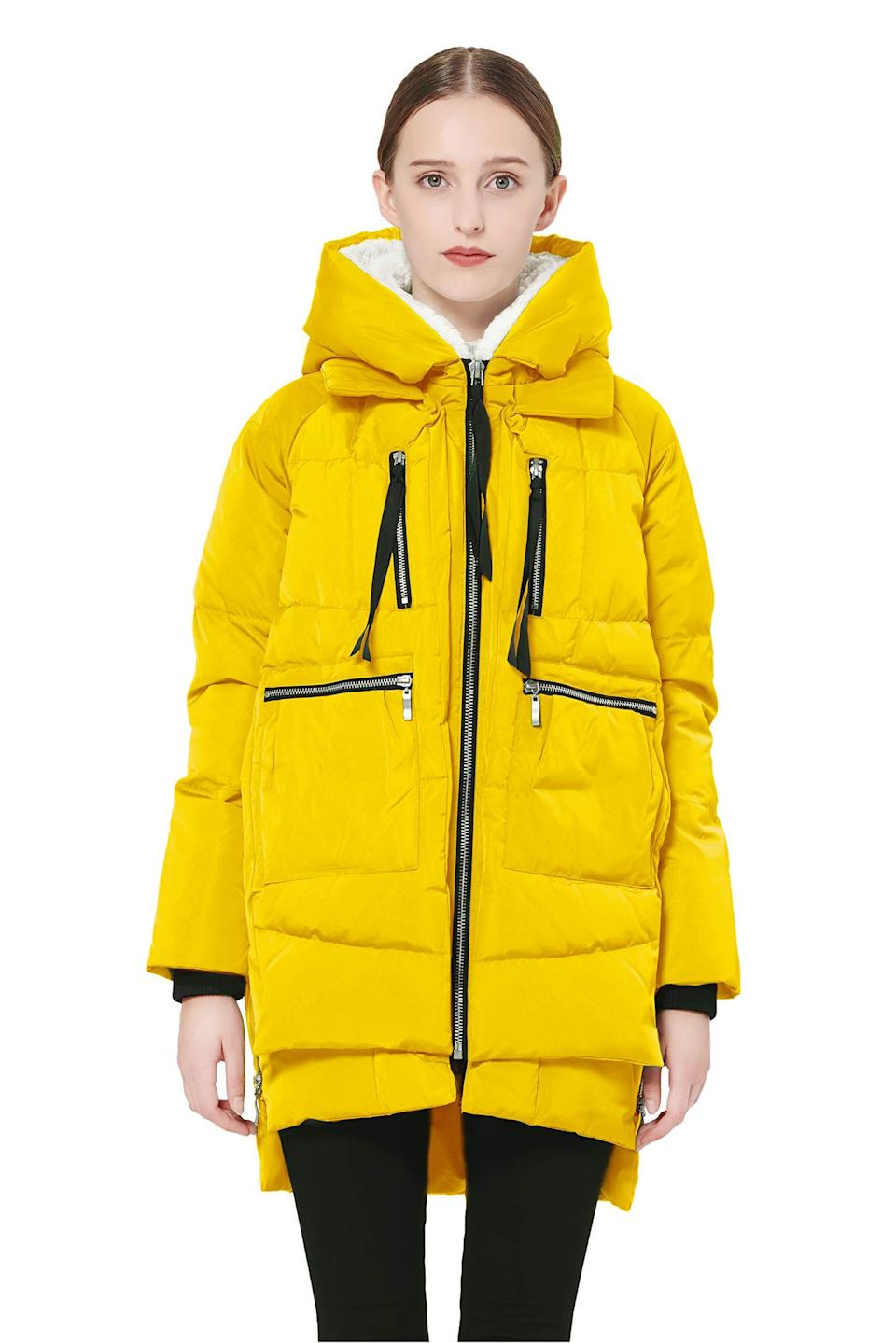 """<h2>37% off Orolay Thickened Down Jacket<br></h2><br>It wouldn't be Prime Day without a discount on the Amazon-famous Orolay coat — which is now available in a host of covetable colorways, including this sunny egg-yolk yellow.<br><br><em>Shop Orolay at <strong><a href=""""https://amzn.to/2Sg4yrm"""" rel=""""nofollow noopener"""" target=""""_blank"""" data-ylk=""""slk:Amazon"""" class=""""link rapid-noclick-resp"""">Amazon</a></strong></em><br><br><strong>Orolay</strong> Thickened Down Jacket, $, available at <a href=""""https://amzn.to/3vMtUL9"""" rel=""""nofollow noopener"""" target=""""_blank"""" data-ylk=""""slk:Amazon"""" class=""""link rapid-noclick-resp"""">Amazon</a>"""