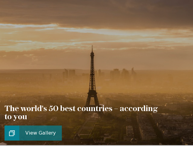 The world's 50 best countries - according to you