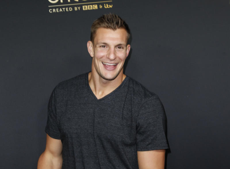 Rob Gronkowski is helping a Tampa high school football team in need. (Photo by Tibrina Hobson/FilmMagic)