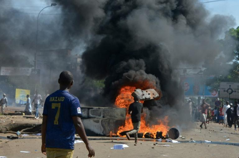 Violent protests have erupted over President Alpha Conde's plans for constitutional change