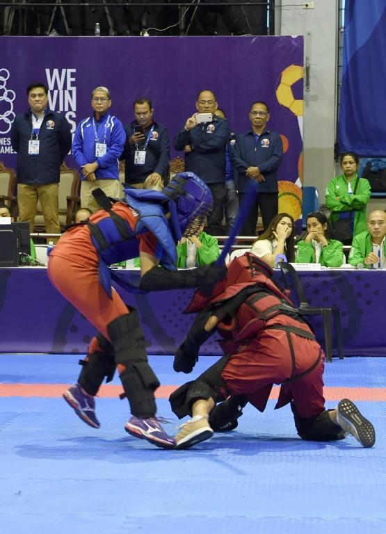 At this year's SEA Games men and women from just four nations -- the Philippines, Myanmar, Cambodia and Vietnam -- fought in bantamweight, featherweight, lightweight and welterweight arnis competitions
