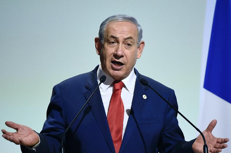 Having established a tradition of meeting with US presidential candidates if and when they visit his country, Israeli Prime Minister Benjamin Netanyahu, pictured November 30, 2015 in Paris, was scheduled to sit down December 28 with Donald Trump