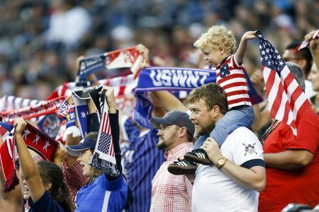 Jul 27, 2017; Seattle, WA, USA; USA fans cheer during the second half against Australia at Century Link Field. Mandatory Credit: Joe Nicholson-USA TODAY Sports