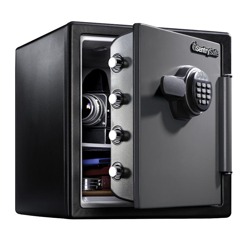 With 1.23 cubic feet of storage space, this compact safe is a great value for any home. (Photo: Walmart)