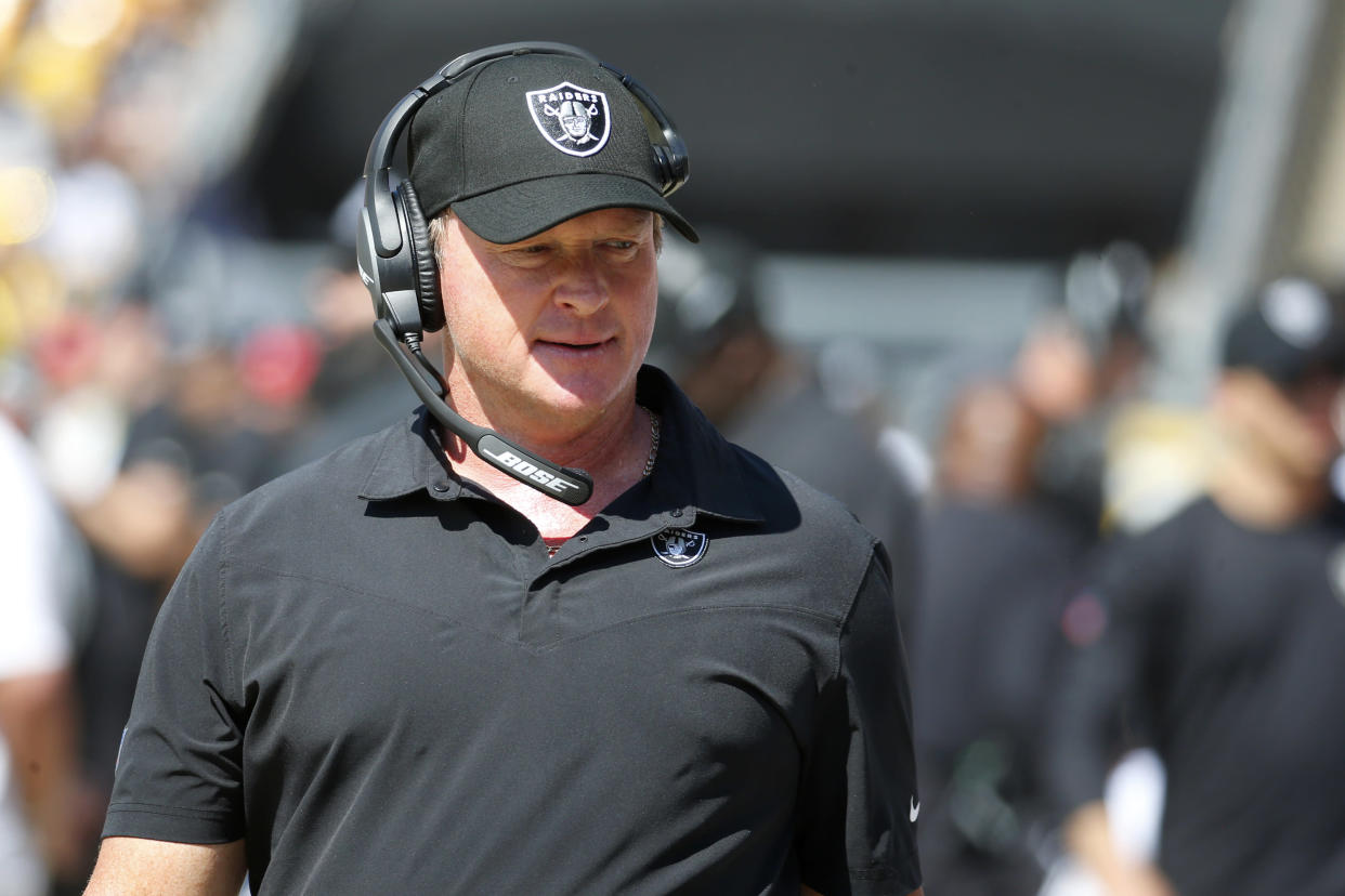 Raiders coach Jon Gruden has his team off to another good start. (Photo by Justin K. Aller/Getty Images)