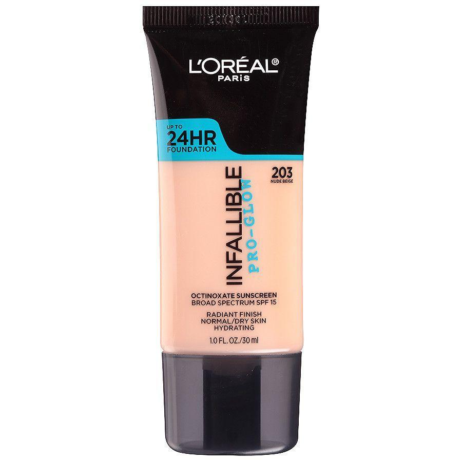"<p>This foundation is great for those who struggle with dryness, even in the humid summer months. The creamy formula offers light to medium coverage and a dewy finish that never looks greasy.</p><strong>L'Oreal Paris</strong>, $10.97, available at <a href=""https://jet.com/product/LOreal-Paris-Infallible-Pro-Glow-Foundation-Creamy-Natural-1-Fl-Oz/5048a1ff0bc048959cb7c5ee750a895a?beaconId=c95af3d9-254c-4541-b064-8792d3c5afce%2F1%2Fx~5048a1ff0bc048959cb7c5ee750a895a&origination=PLP"" rel=""nofollow noopener"" target=""_blank"" data-ylk=""slk:Jet"" class=""link rapid-noclick-resp"">Jet</a>"
