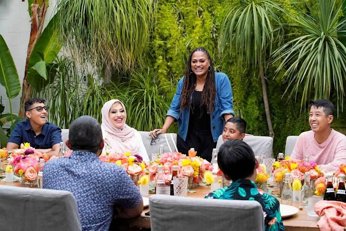 """Ava Duvernay, center, in the new NBC unscripted series """"Home Sweet Home."""""""