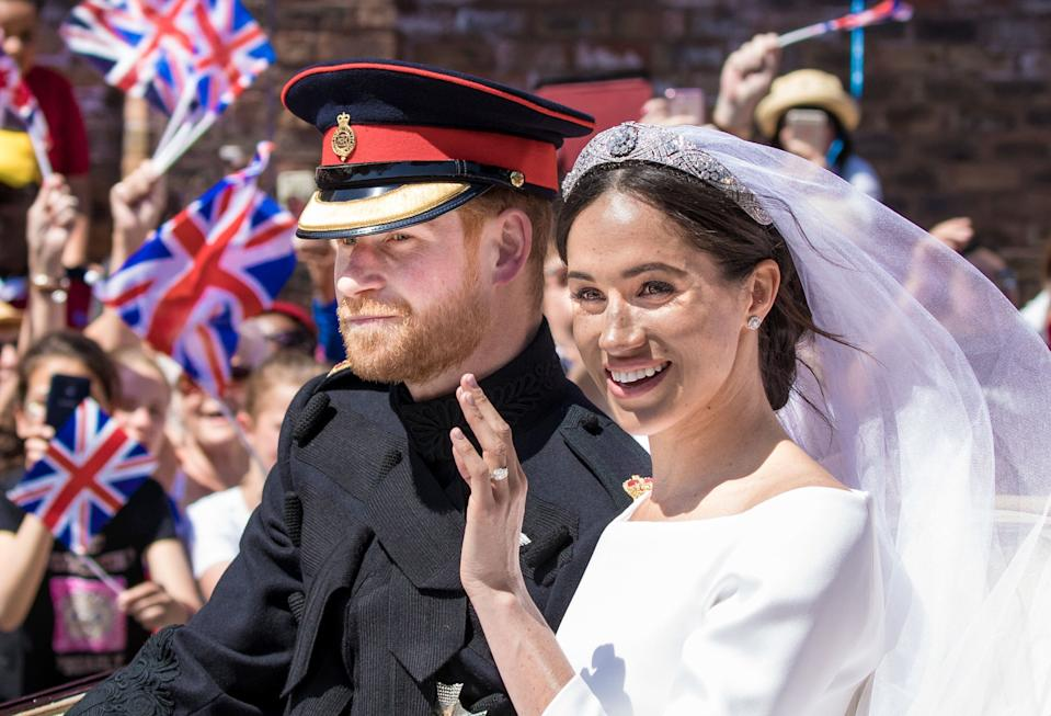 Prince Harry and Meghan Markle, Duke and Duchess of Sussex are celebrating their one-year wedding anniversary. (Credit: PA Images)