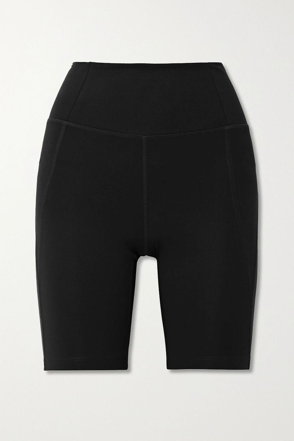 """I'm patiently waiting for these to come back into stock. I'll wear them under dresses for long days in the park, and for the long cycle rides I've discovered in lockdown.<br><br><strong>Girlfriend Collective</strong> Bike Stretch Shorts, $, available at <a href=""""https://www.net-a-porter.com/en-gb/shop/product/girlfriend-collective/bike-stretch-shorts/1260791"""" rel=""""nofollow noopener"""" target=""""_blank"""" data-ylk=""""slk:Net-A-Porter"""" class=""""link rapid-noclick-resp"""">Net-A-Porter</a>"""