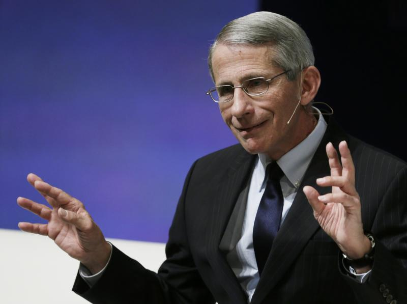 Dr Anthony Fauci appears at the Washington Ideas Forum in Washington