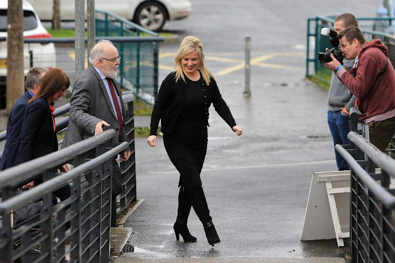 Sinn Fein's Michelle O'Neill is in line to become Northern Ireland's deputy prime minister (AFP Photo/PAUL MCERLANE)