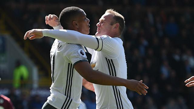 The Red Devils stretched their unbeaten sequence in the English top-flight competition to 23 games with a 2-0 victory over the Clarets at Turf Moor