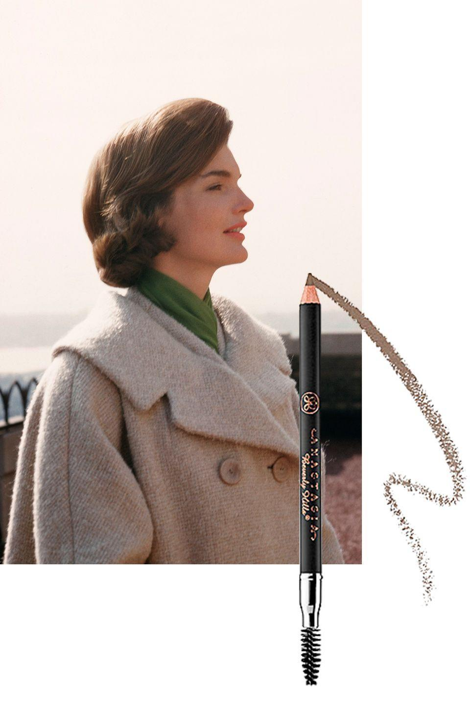 "<p><span>Long before Brooke Shields debuted in <em>Blue Lagoon</em>, Kennedy made the case for a strong brow. To steal her look, make sure your eyebrows are always filled in and blended using a pencil like <span><a href=""http://www.sephora.com/perfect-brow-pencil-P69305"" rel=""nofollow noopener"" target=""_blank"" data-ylk=""slk:this one from Anastasia Beverly Hills"" class=""link rapid-noclick-resp"">this one from Anastasia Beverly Hills</a></span><span>. Eyebrows should also be sharply arched and well-groomed. (Kennedy was a lifelong perfectionist.)</span></span></p><p><a class=""link rapid-noclick-resp"" href=""https://go.redirectingat.com?id=74968X1596630&url=https%3A%2F%2Fwww.sephora.com%2Fproduct%2Fperfect-brow-pencil-P69305&sref=https%3A%2F%2Fwww.goodhousekeeping.com%2Flife%2Fentertainment%2Fg33481959%2Fjackie-kennedy-beauty-tips%2F"" rel=""nofollow noopener"" target=""_blank"" data-ylk=""slk:SHOP NOW"">SHOP NOW</a> <em>Anastasia Beverly Hills Perfect Brown Pencil, $23</em></p>"