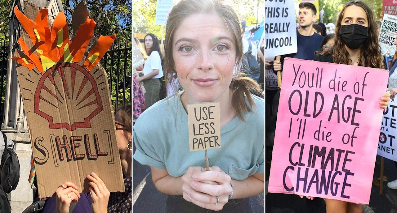Climate change march: The best protest placards