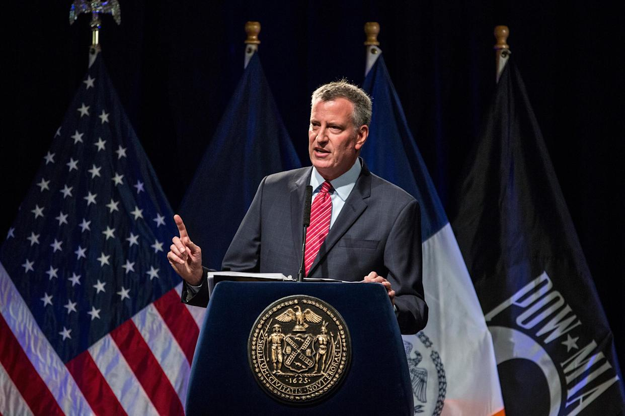 Mayor Bill de Blasio outlines his vision for New York City schools, September 2015. (Photo: Andrew Burton/Getty Images)