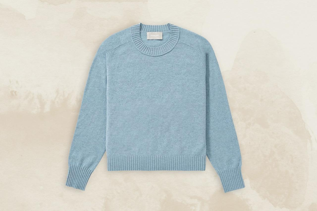 """<p>While no one really needs another reason to love <a href=""""https://www.cntraveler.com/story/how-to-find-the-perfect-cashmere-sweater?mbid=synd_yahoo_rss"""" target=""""_blank"""">cashmere</a>, you can feel even better about buying this sweater as it's not only the ideal cozy layer to combat freezing airports, it's also made from 60 percent recycled cashmere. Raw cashmere productions are degrading large portions of <a href=""""https://www.fastcompany.com/90417006/sweater-weather-is-here-but-read-this-before-you-buy-anything-cashmere"""" target=""""_blank"""">Mongolia's pastures</a>, so Everlane partnered with a mill in Prato, Italy, to up-cycle cashmere sweaters that would normally end up in landfills. The new process uses fewer dyes and chemicals than traditional cashmere production, resulting in a 50 percent smaller carbon footprint.</p> <p><strong>Buy Now:</strong> <a href=""""https://fave.co/2DLZqQP"""" rel=""""nofollow"""" target=""""_blank"""">$95, everlane.com</a></p>"""