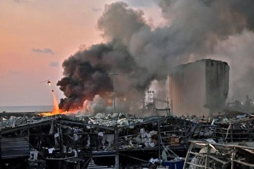 The huge blast, which appeared to have been caused by a fire igniting 2,750 tonnes of fertiliser, was felt as far away as Cyprus, some 150 miles (240 kilometres) to the northwest