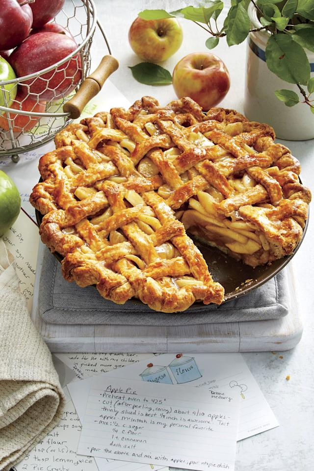 """<p><b>Recipe: </b><a href=""""https://www.southernliving.com/recipes/old-fashioned-apple-pie""""><strong>Old-Fashioned Apple Pie</strong></a></p> <p>As its name implies, this double-crusted dessert will remind you of Thanksgivings past. </p>"""