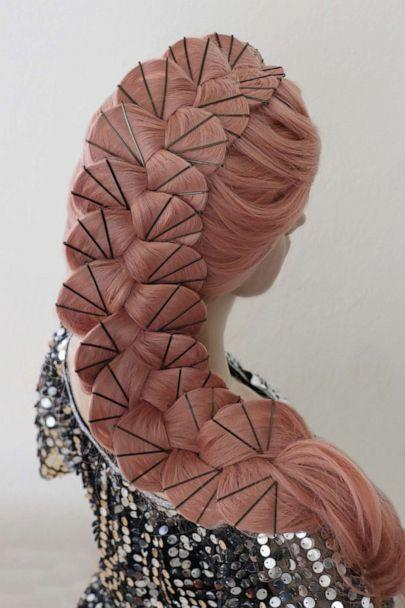 PHOTO: Stylist Casey Powell designed this scalloped braid with approximately 75 bobby pins. (Courtesy of Casey Powell)
