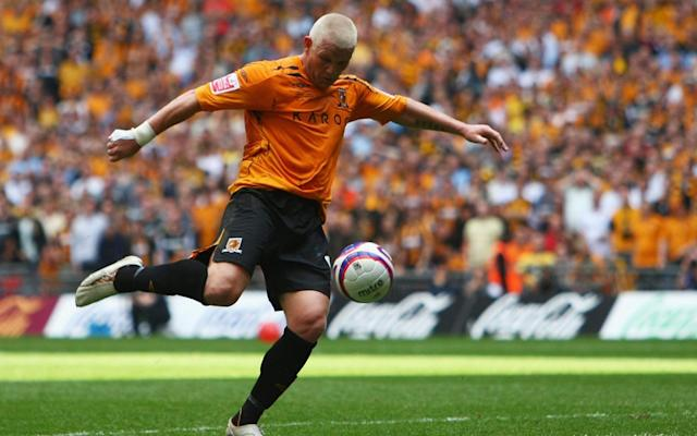 <span>Dean Windass scores for Hull in the 2008 play-off final</span>