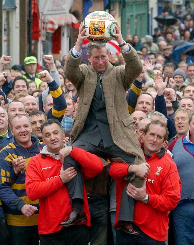 PRINCE CHARLES IN ASHBOURNE