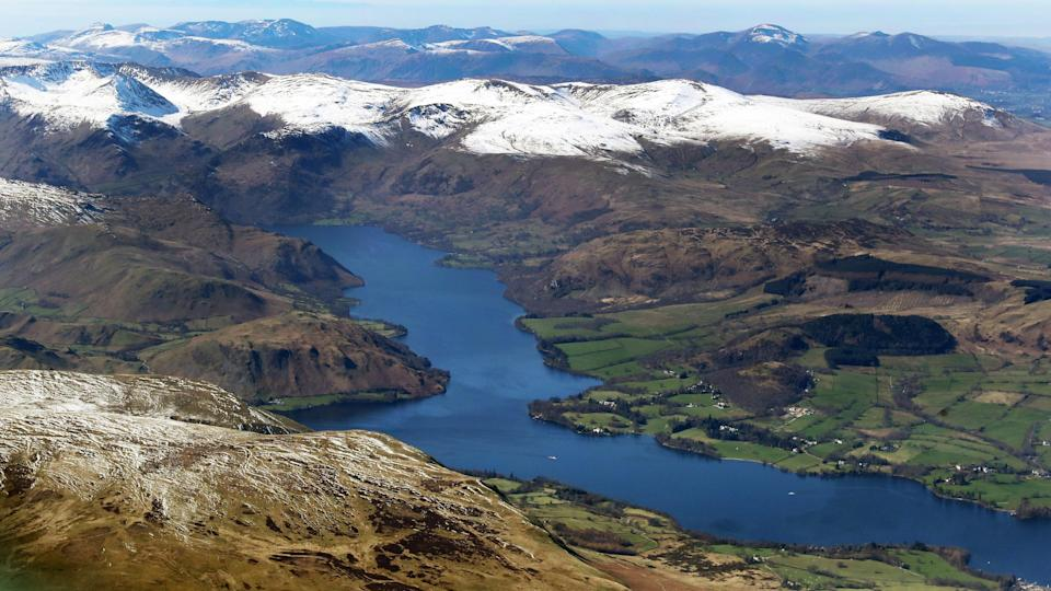 Sites from the Lake District's Ullswater and Scotland's Loch Lomond to the River Thames all had tiny pieces of plastic in the water (PA)