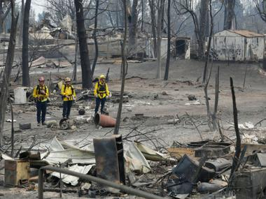 California wildfires claim 42 lives, over 230 still missing; fire department search ops hampered by strong winds