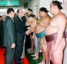 Chirac once mused about whether he could have made the cut as a sumo wrestler (AFP Photo/JIJI PRESS)