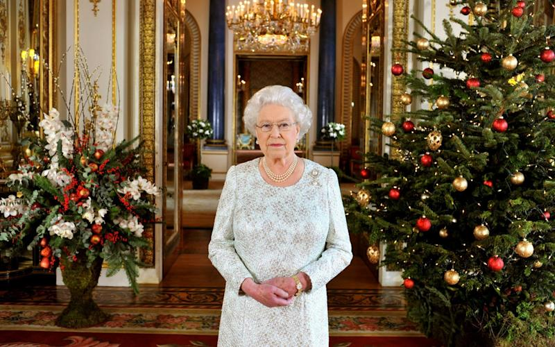 Queen Elizabeth II records her Christmas message to the Commonwealth in 3D for the first time at Buckingham Palace on December 7 2012 - PA