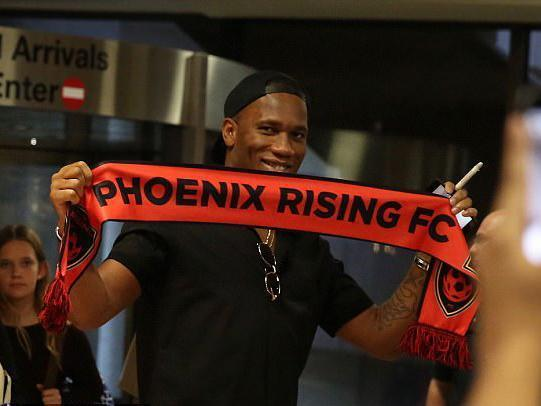 Drogba will attempt to lead the club into the MLS (Twitter / PHXRisingFC)