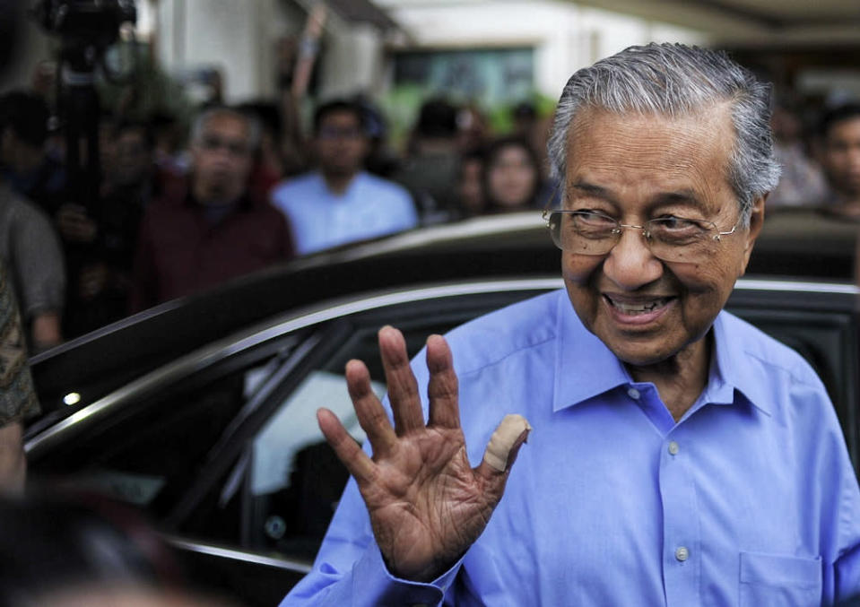 The two-time prime minister had political adversaries like Datuk Seri Najib Razak and Datuk Seri Mohamed Azmin Ali send him birthday greetings to his continued good health on social media. — Picture by Shafwan Zaidon