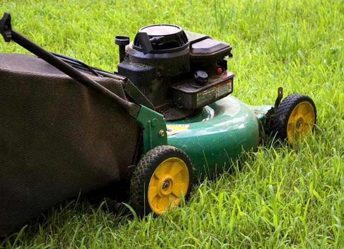 """<body> <p>Traditional lawns require an army of tools for maintenance, including <a rel=""""nofollow noopener"""" href="""" http://www.bobvila.com/slideshow/7-tips-to-keep-your-mower-in-working-order-47480#.VW9rP89ViT4?bv=yahoo"""" target=""""_blank"""" data-ylk=""""slk:mowers"""" class=""""link rapid-noclick-resp"""">mowers</a>, edgers, sprinklers, spreaders, and so much more. Once you install an artificial lawn, however, you can say goodbye to all that gear and free up much-needed space in your garage or shed.</p> <p><strong>Related: <a rel=""""nofollow noopener"""" href="""" http://www.bobvila.com/slideshow/8-top-tools-for-taming-your-landscape-48815?bv=yahoo"""" target=""""_blank"""" data-ylk=""""slk:8 Top Tools for Taming Your Landscape"""" class=""""link rapid-noclick-resp"""">8 Top Tools for Taming Your Landscape</a> </strong> </p> </body>"""