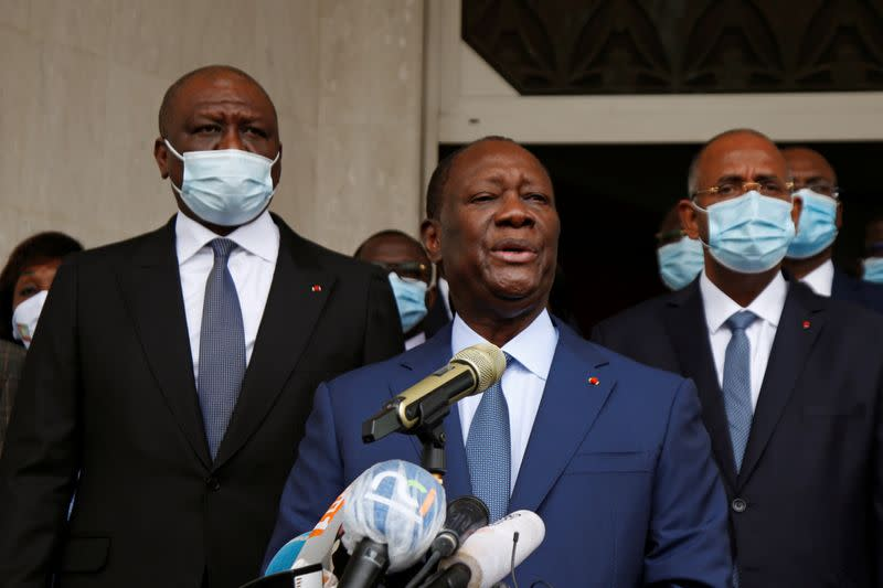 Ivory Coast's Ouattara applies to run for third term amid protests