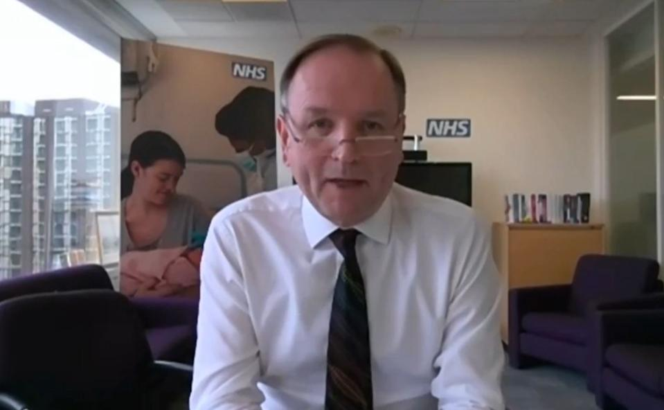 'Return to a much more normal future': NHS England chief executive Sir Simon Stevens. (PA)
