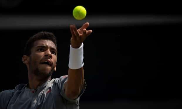 Canada's Felix Auger-Aliassime defeated Sam Querrey of the U.S. 6-4, 7-5 to advance to the final of the Stuttgart Open on Saturday.   (Marijan Murat/Associated Press  - image credit)