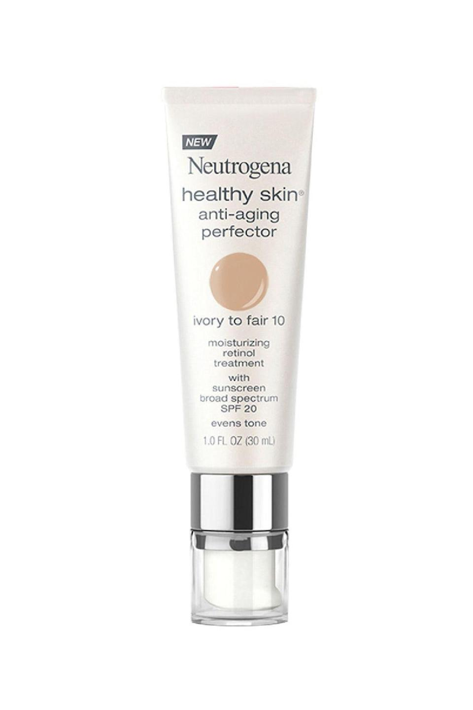 """<p><strong>Neutrogena</strong></p><p>target.com</p><p><strong>$8.99</strong></p><p><a href=""""https://www.target.com/p/neutrogena-174-healthy-skin-anti-aging-perfector/-/A-51158492"""" rel=""""nofollow noopener"""" target=""""_blank"""" data-ylk=""""slk:SHOP IT"""" class=""""link rapid-noclick-resp"""">SHOP IT</a></p><p>You don't need to have """"aging"""" skin to enjoy the benefits of SPF 20 plus added retinol, which work in tandem to prevent complexion damage and repair any that's already been done. </p>"""
