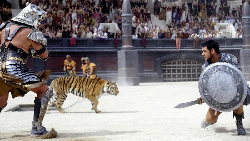 Russell Crowe as Maximus in Gladiator (Credit: Dreamworks)