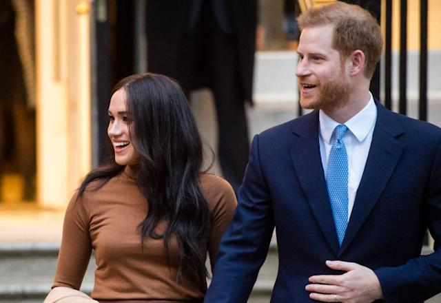 """The Duke and Duchess of Sussex are stepping down as """"senior"""" royals. [Photo: Getty]"""