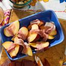 <p>In this simple appetizer recipe, cloaking juicy stone fruit with rich ribbons of cured meat is a quick and simple route to salty-sweet perfection. Serve on your next cheese board with Spanish Manchego cheese and Marcona almonds.</p>