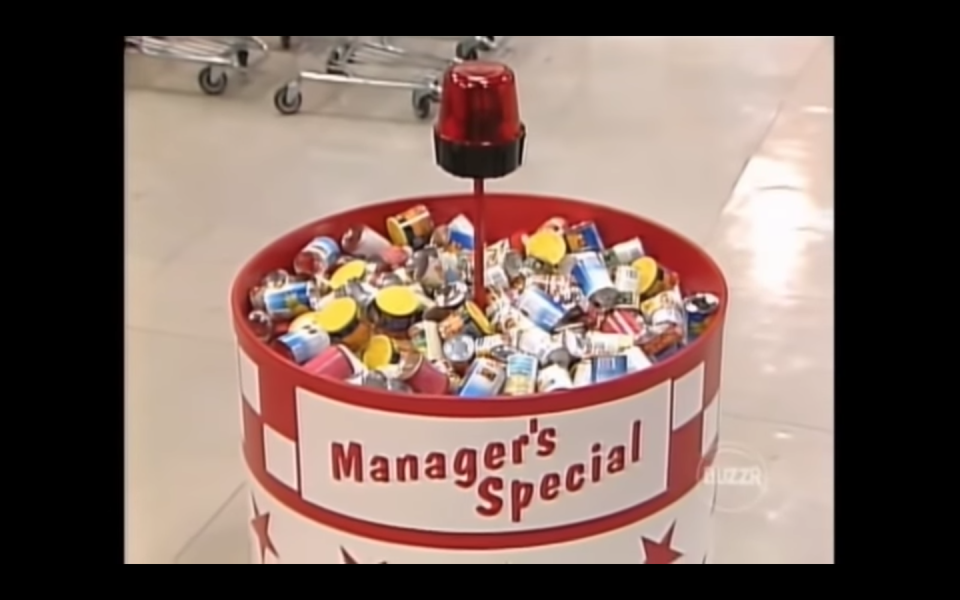 """<p>Another way to bulk up your cart's value? Find the item marked with the red star in the Manager's Special bucket. The <a href=""""https://www.youtube.com/watch?v=DLeVYtsQyhE&feature=youtu.be"""" rel=""""nofollow noopener"""" target=""""_blank"""" data-ylk=""""slk:item will be worth $200"""" class=""""link rapid-noclick-resp"""">item will be worth $200</a>, added to the grand total. </p>"""