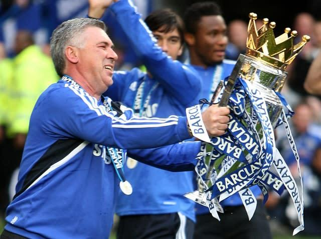 Ancelotti delivered a Premier League and FA Cup double in his first season in charge (Nick Potts/PA)