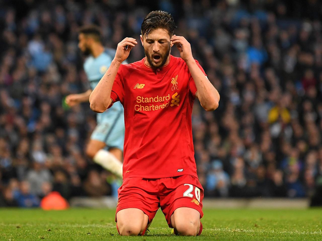 Adam Lallana apologised to Liverpool teammates after horror miss against Manchester City