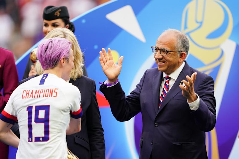 It's in the best interest of both U.S. Soccer and the USWNT to find a common, sensible ground on equal pay going forward. (Photo by John Todd/isiphotos.com/Getty Images)