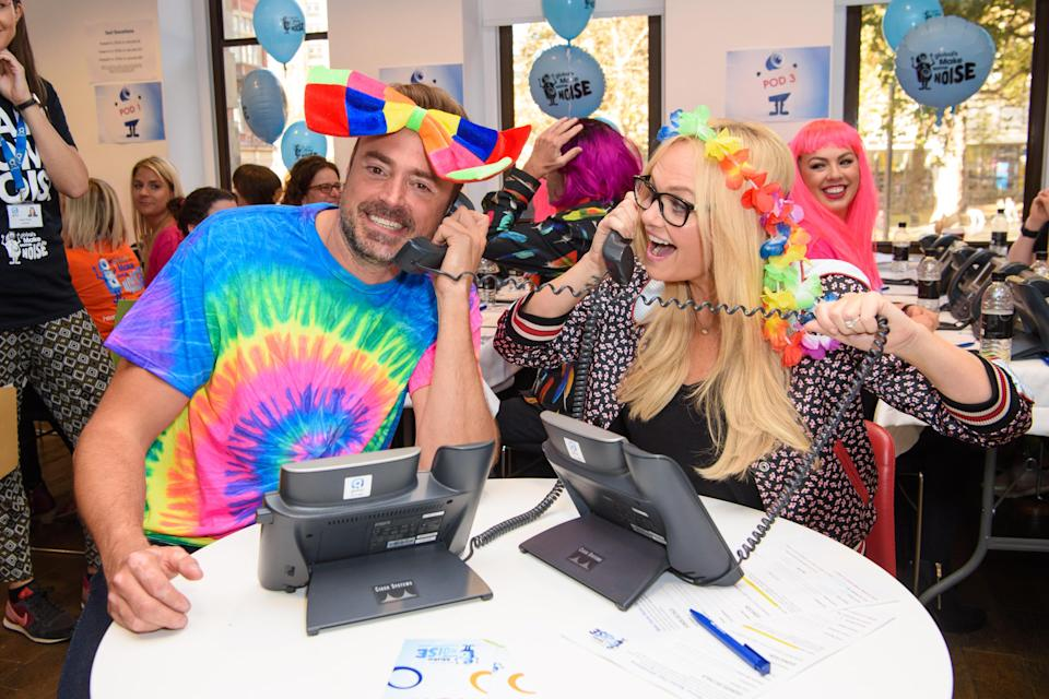 Jamie Theakston and Emma Bunton pictured during Global's Make Some Noise Day 2017. (Matt Crossick/ EMPICS Entertainment)