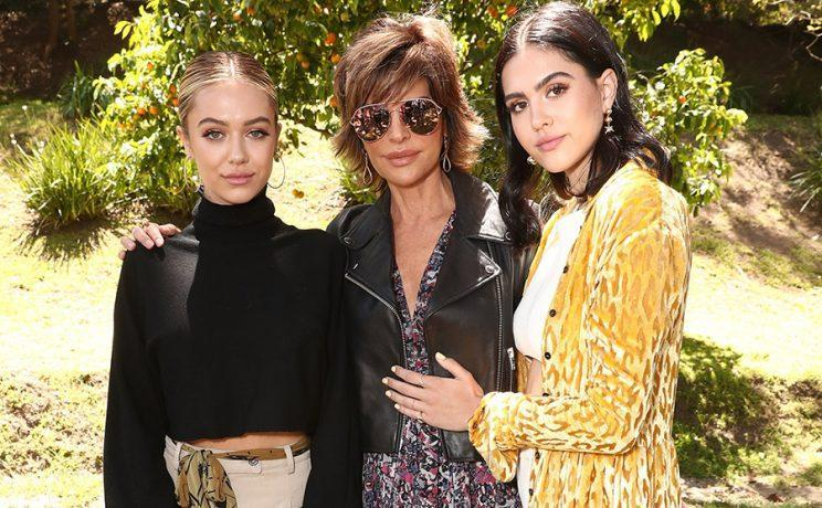 Lisa Rinna flanked by daughters Delilah Belle Hamlin, left, and Amelia Gray Hamlin. (Photo: Getty Images)