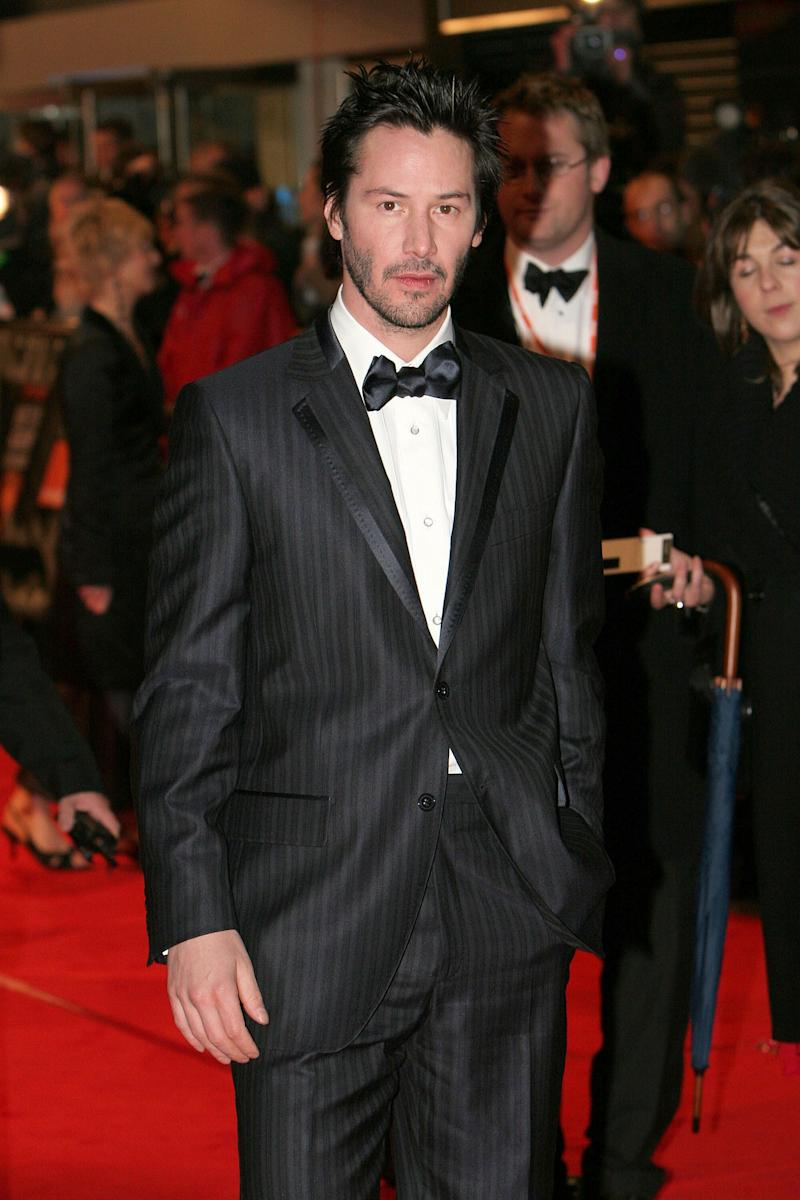 Reeves arrives at the BAFTA Film Awards at the Odeon Leicester Square in London.