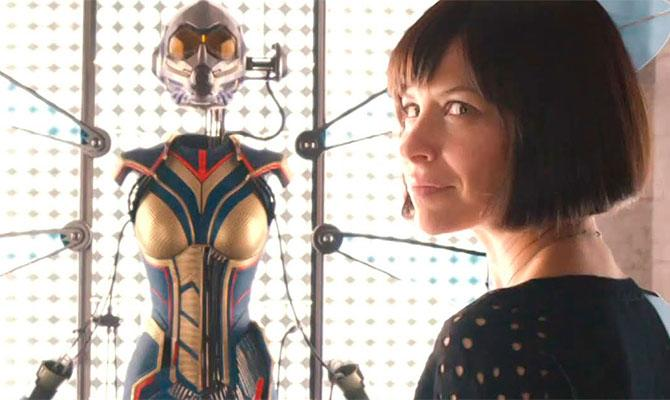 Evangeline Lilly will suit up as the MCU's first superheroine to get her name in the title in 'Ant-Man and the Wasp' (credit: Marvel Studios)