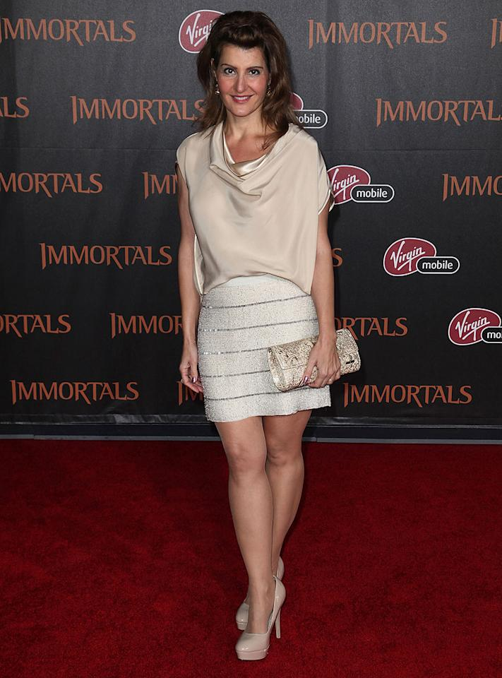 "<a href=""http://movies.yahoo.com/movie/contributor/1804536542"">Nia Vardalos</a> at the Los Angeles premiere of <a href=""http://movies.yahoo.com/movie/1810150710/info"">Immortals</a> on November 7, 2011."
