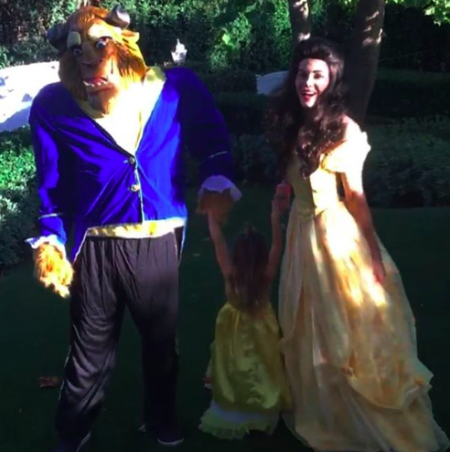 """<p>It was a tale as old as time for the <i>Supergirl</i> actress, who dressed as Belle along with her daughter, Everly. Hubby Channing Tatum rounded out the trio as the Beast. (Photo: <a rel=""""nofollow"""" href=""""https://www.instagram.com/p/BMQQj43DlPq/?taken-by=jennaldewan&hl=en"""">Instagram</a>) </p>"""